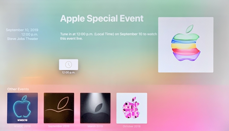 Apple Updates Apple TV Special Event App to Ready for September 10 iPhone Event