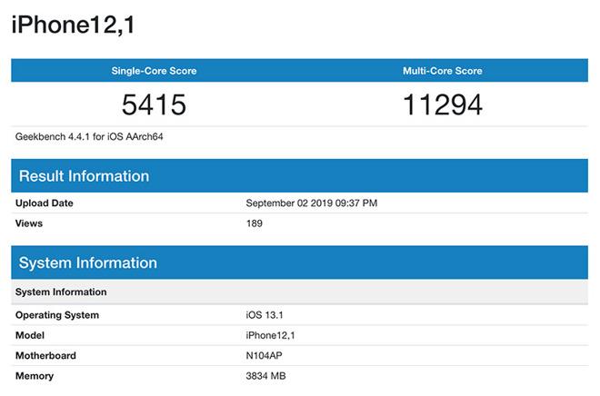 Benchmark Indicates iPhone XR Successor Boasts Six-Core ARM & 4GB RAM