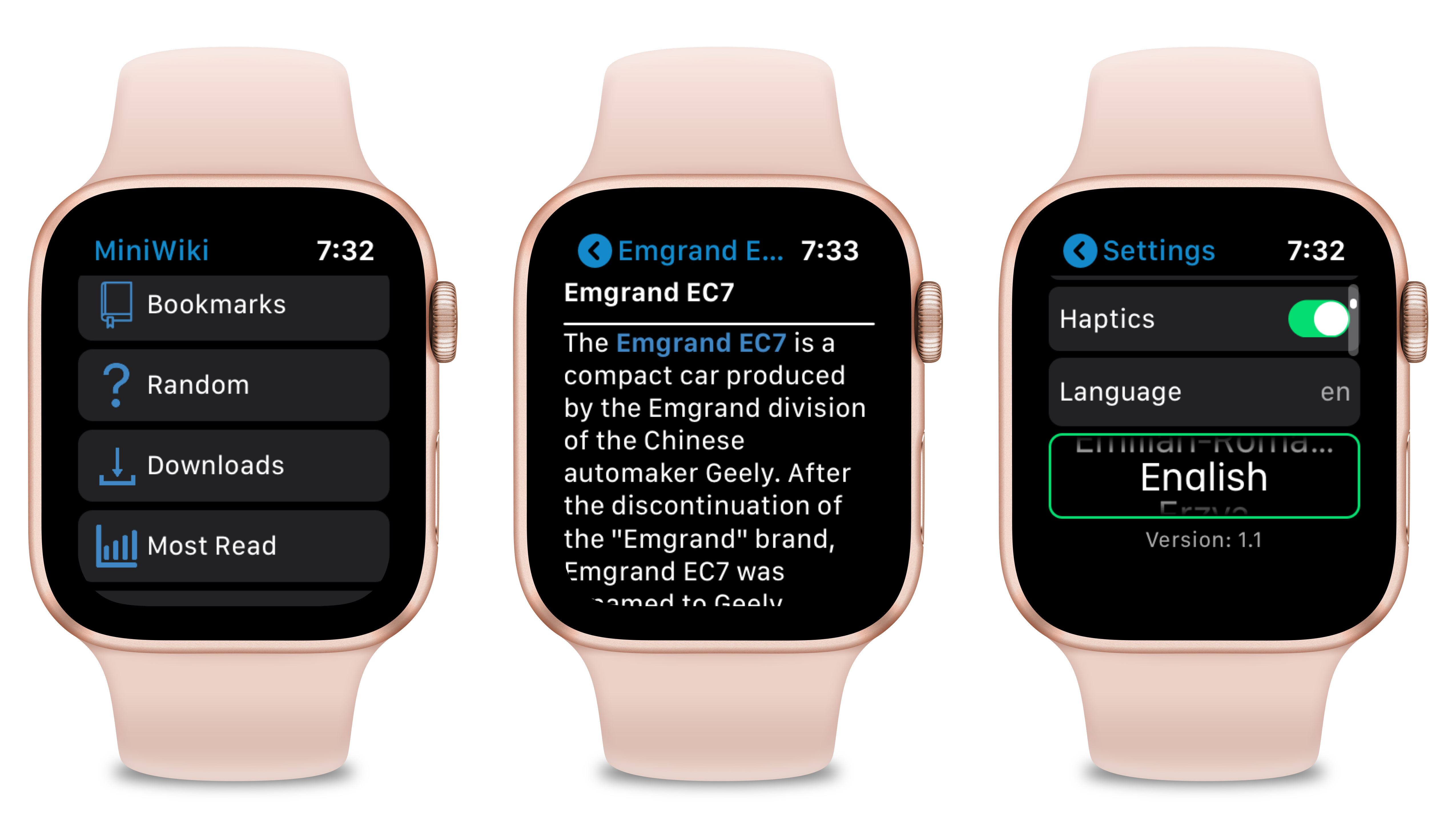 MiniWiki for Apple Watch Adds 'Random' Articles, Independent Language Feature
