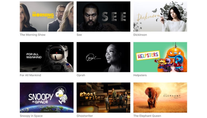 Apple Launches New Media Site for Apple TV+ Shows and Films