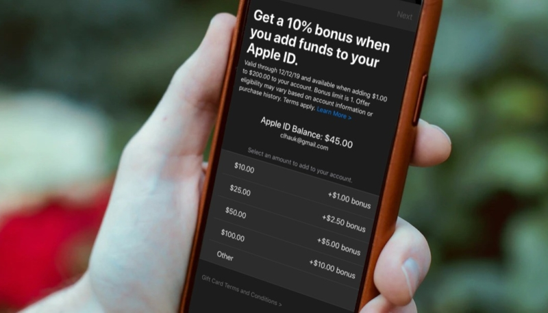 Apple Once Again Offering A 10% Bonus iTunes Credit When Adding Funds to Apple ID
