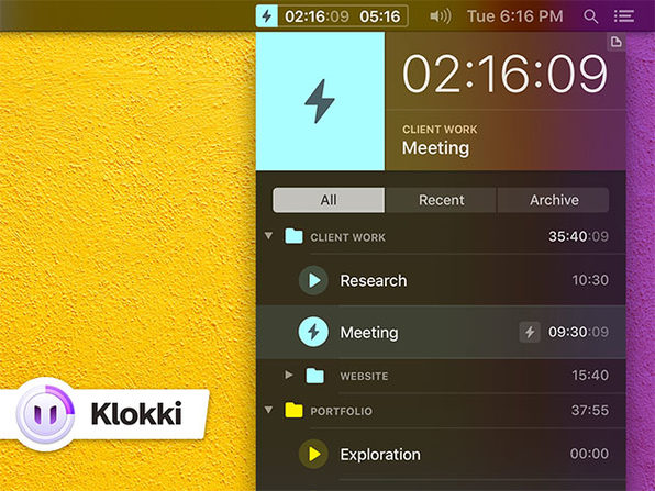 MacTrast Deals: Klokki: Automatic Time Tracking Tool for Mac