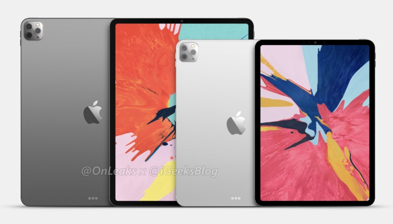 New Renders Show Claimed Design of 2020 iPad Pros With Triple-Lens Rear Cameras
