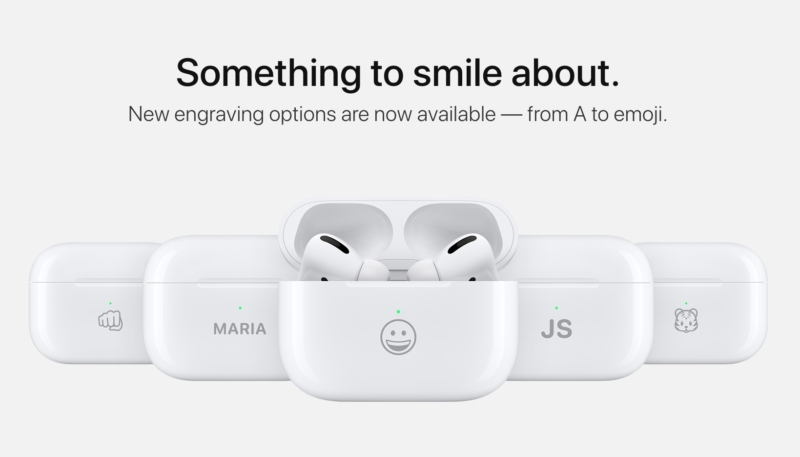 AirPods Charging Cases Can Now Be Engraved Using Select Emoji