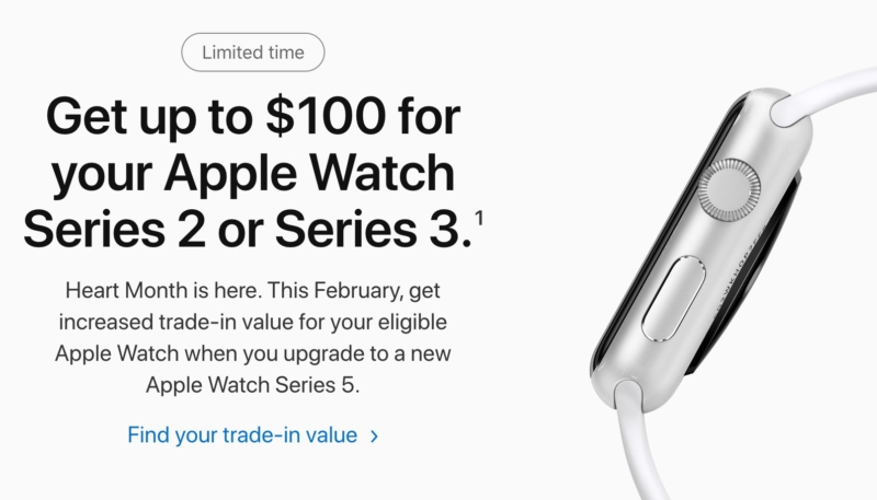 New Apple Watch 'Heart Month' Promo Offers Up To $100 For Apple Watch Series 2 and Series 3 Model Trade-Ins