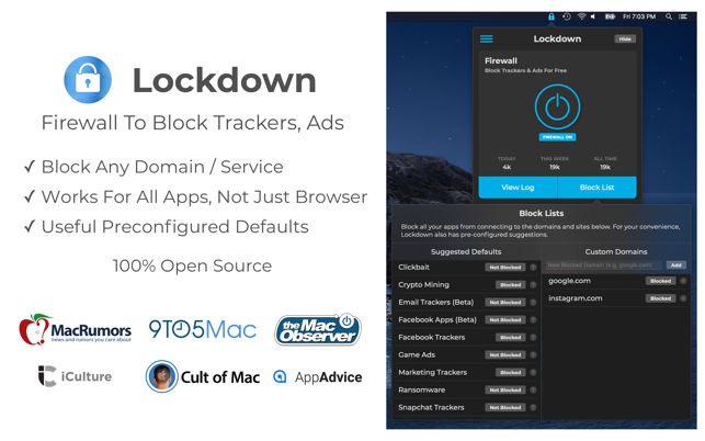 Lockdown Firewall App Now Available for Mac in the Mac App Store