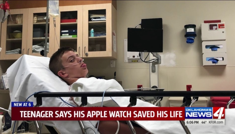 Oklahoma Mom Says Apple Watch Saved 13-Year-Old Son's Life