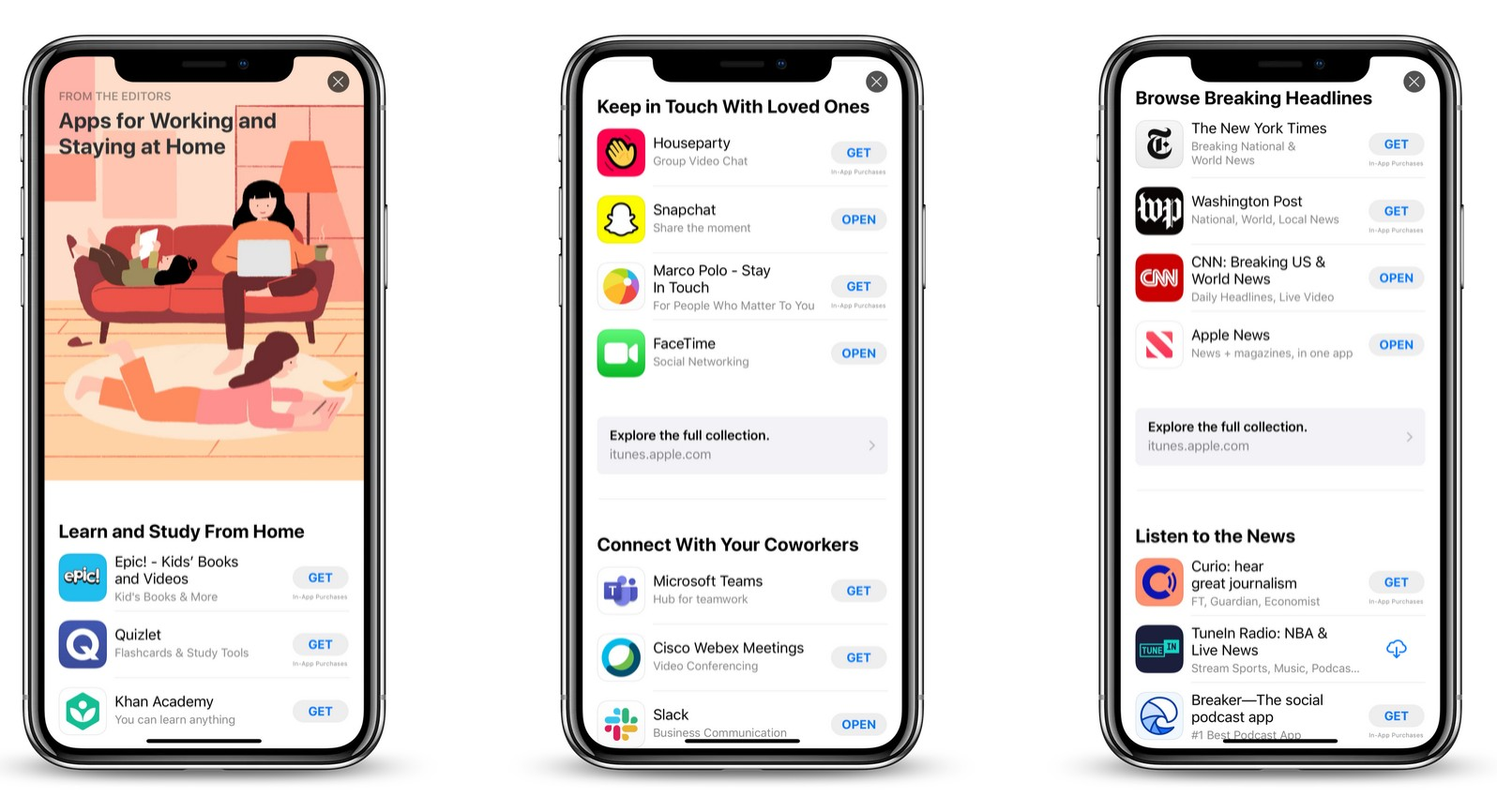 New App Store Editorial Story Highlights Work From Home Apps