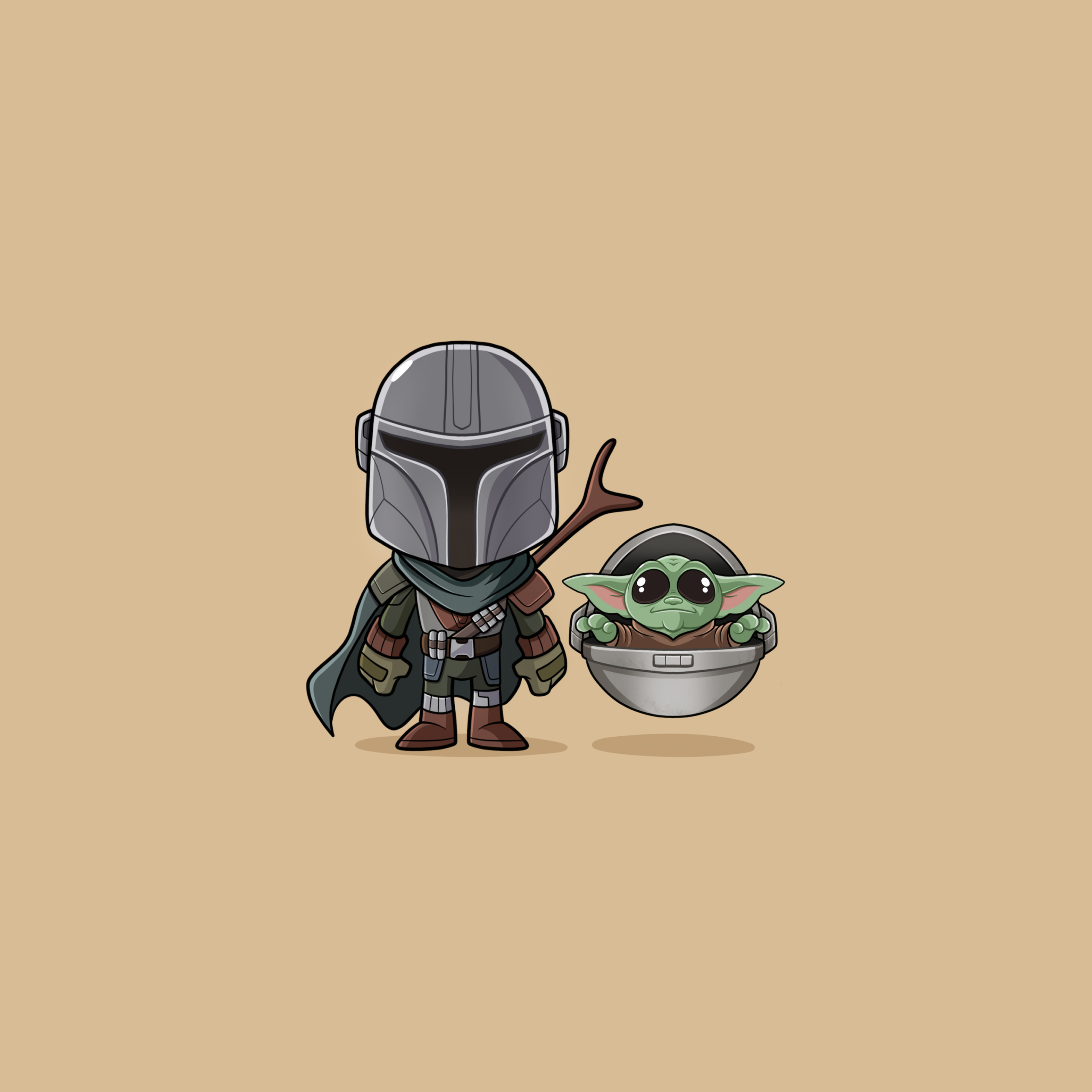 wallpapersden.com baby yoda and mandalorian 2932x2932 scaled