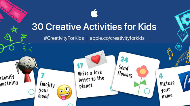 Apple Creates iPad-Based '30 Creative Activities for Kids' to Foster At-Home Learning