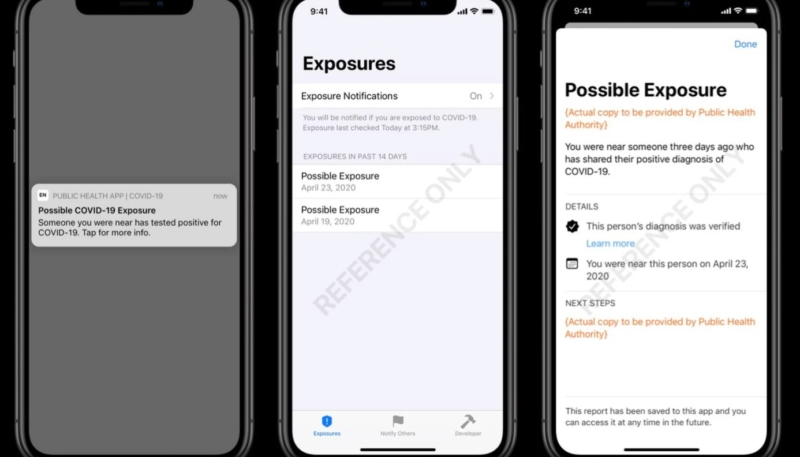 Apple and Google Release Sample UI and Code for COVID-19 Exposure Notification Developers