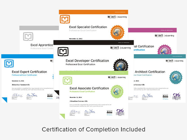 2020 Excel Certification School Bundle