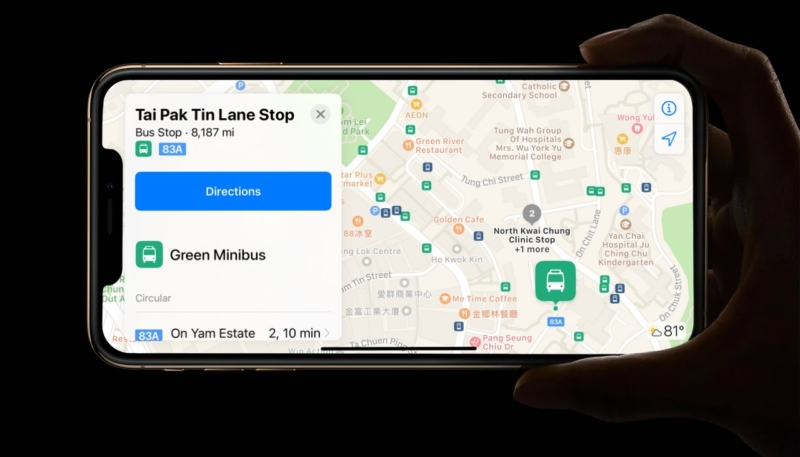 Apple Maps Transit Directions Goes Live for Hong Kong, Apple Pay Octopus Also Officially Launches