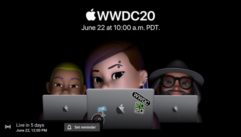 WWDC 2020 Keynote Live Stream Link and Reminder Now Available on YouTube