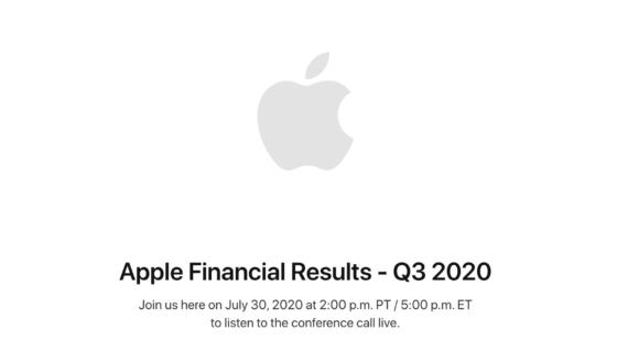 Apple Earnings Call Q3 2020