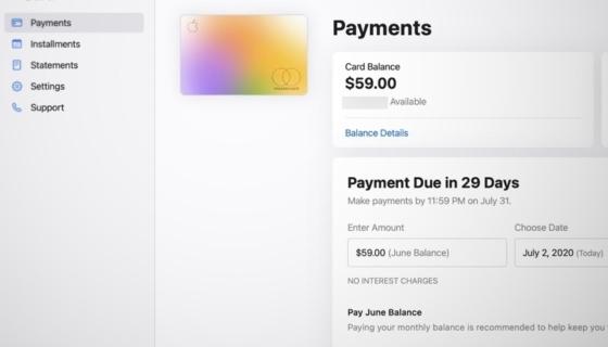 Apple Card Website