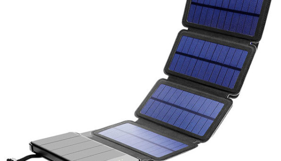 Foldable Solar Phone Charger and 10,000mAh Power Bank