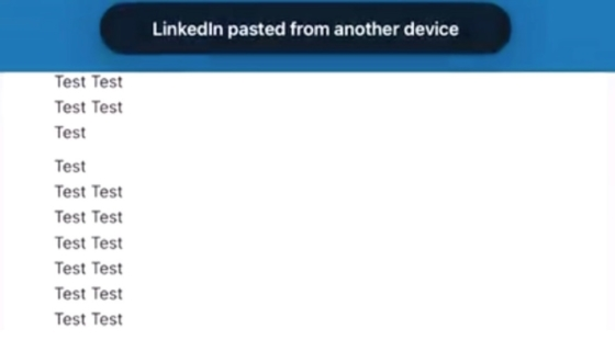 LinkedIn Clipboard Copying