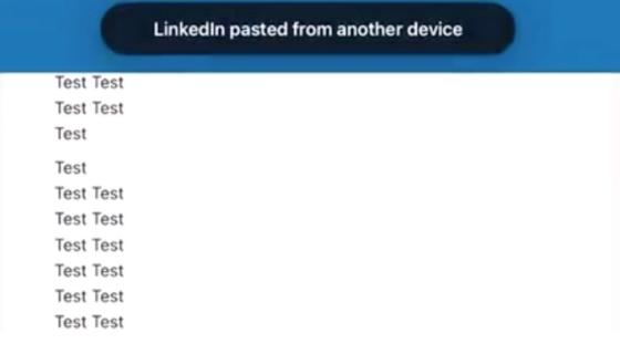 LinkedIn Clipboard Copying