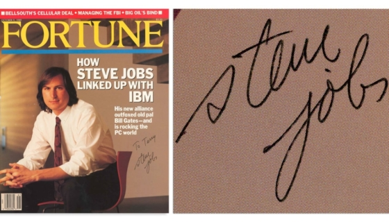 Steve Jobs Signed Fortune Cover