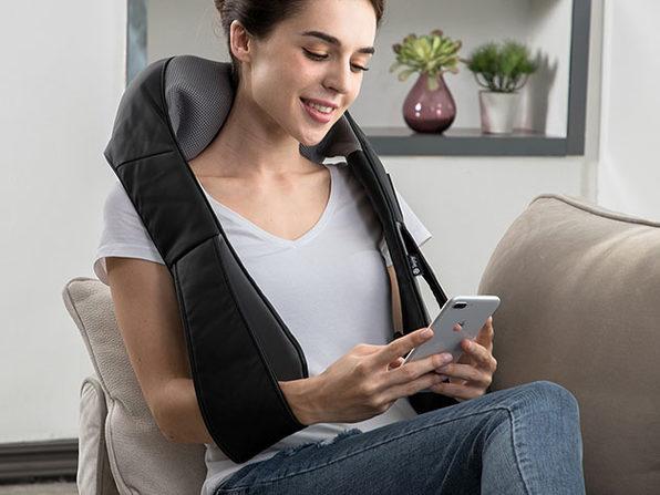 MacTrast Deals: Tekjoy Shiatsu Kneading Massage Pillow with Extended Velcro Strap