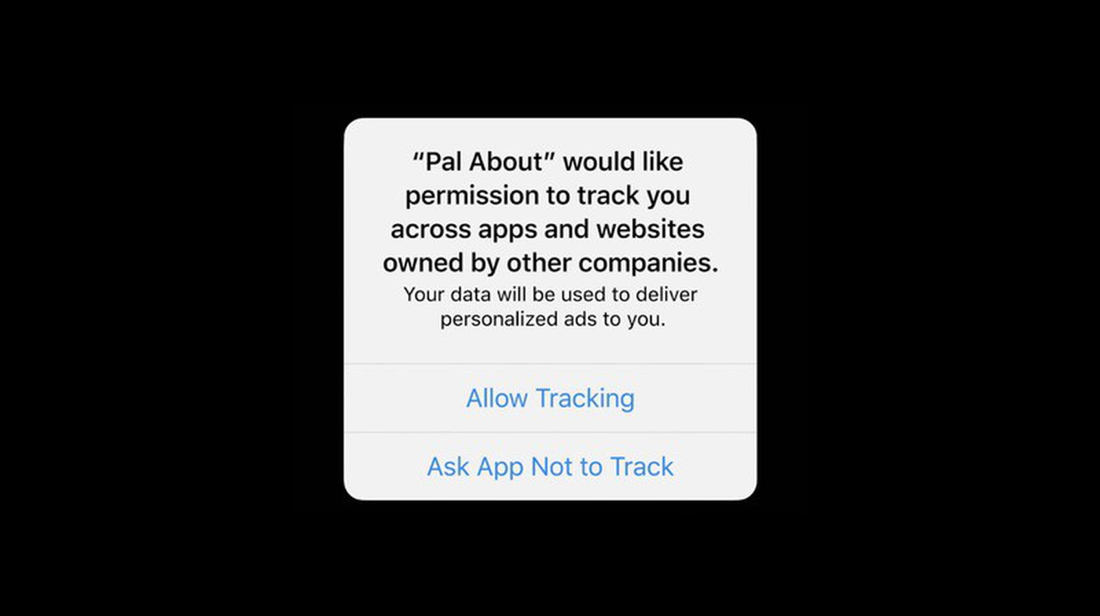 iOS 14 Ad Tracking Pop Up