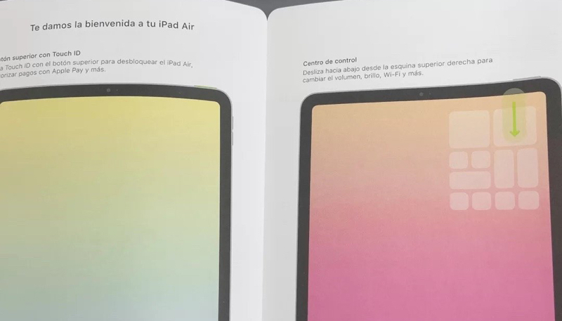 Alleged iPad Air 4 Manual Shows Device With All-Screen Display With Touch ID Built into Power Button