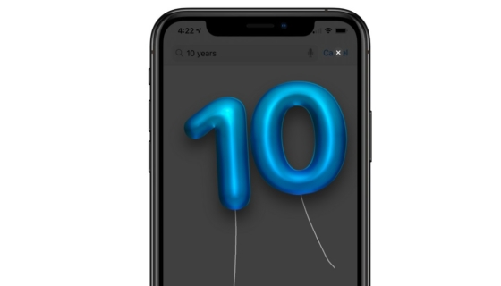 App Store 10th Anniversary Balloons