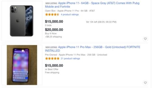 Fortnite iPhone on eBay
