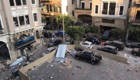 Aftermath of Beirut Explosion