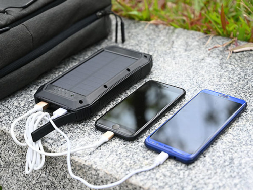 Solar-Powered Wireless Phone Charger