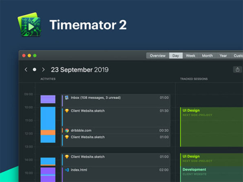 Timemator 2: Automatic Time Tracking App