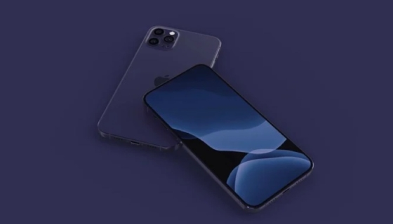 Navy Blue iPhone 12 Mockup