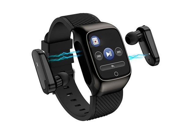 2-in-1 Compact Smart Fit Watch a Bluetooth Earpods