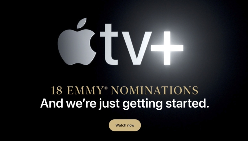 Apple Touts Apple TV+ and Its 18 Emmy Nominations on Its Homepage