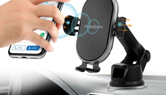 Chargeworx Motion-Activated Wireless Charging Car Mount