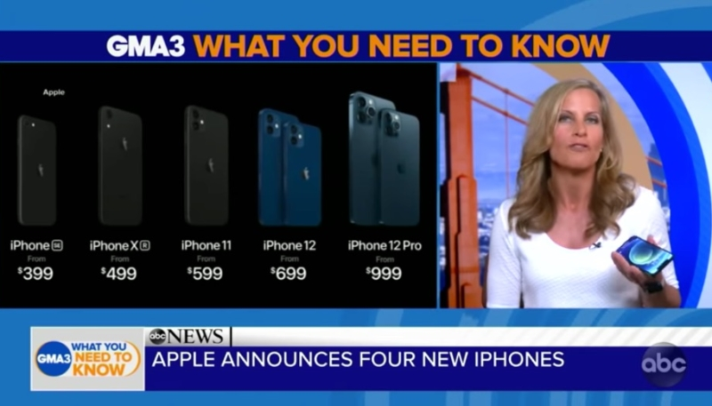'Good Morning America' Scores the First Hands-On With the iPhone 12 and iPhone 12 Pro