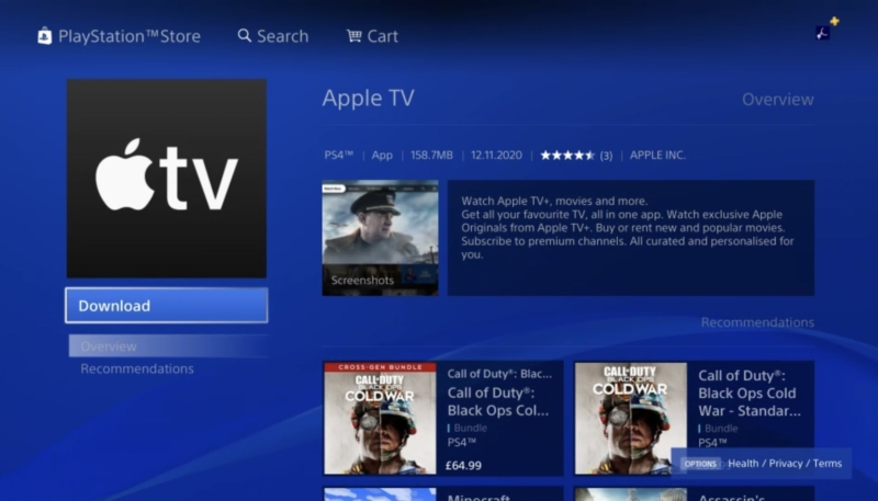 Apple TV App Now Available on PlayStation 4 and PlayStation 5