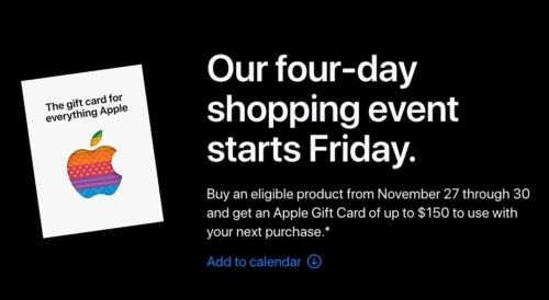 Black Friday - Cyber Monday 2020 - Apple Store