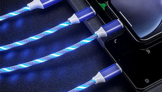 LED Light 3-in-1 Charger Cable 1