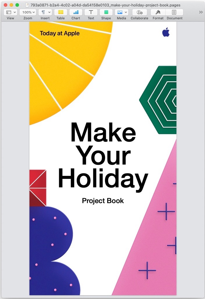 Today at Apple - Make Your Holiday 2