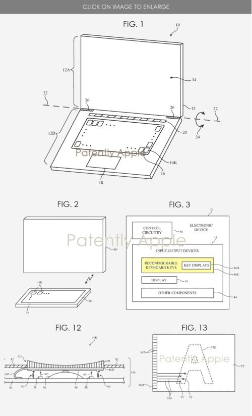 Apple Keyboard Patent Filing
