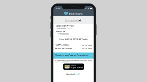 COVID-19 Vaccine Proof in Apple Wallet