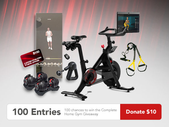 MacTrast Deals: 100 Entries to Win the Complete Home Gym Giveaway Ft. Peloton & Donate to Charity