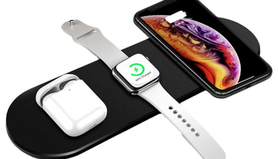 3-in-1 Ultra-Thin Fast Wireless Charging Pad